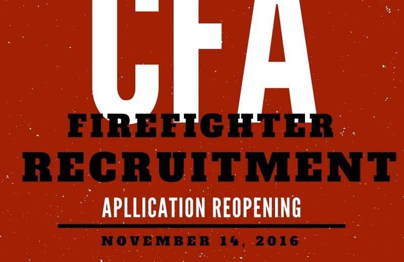 CFA firefighter application