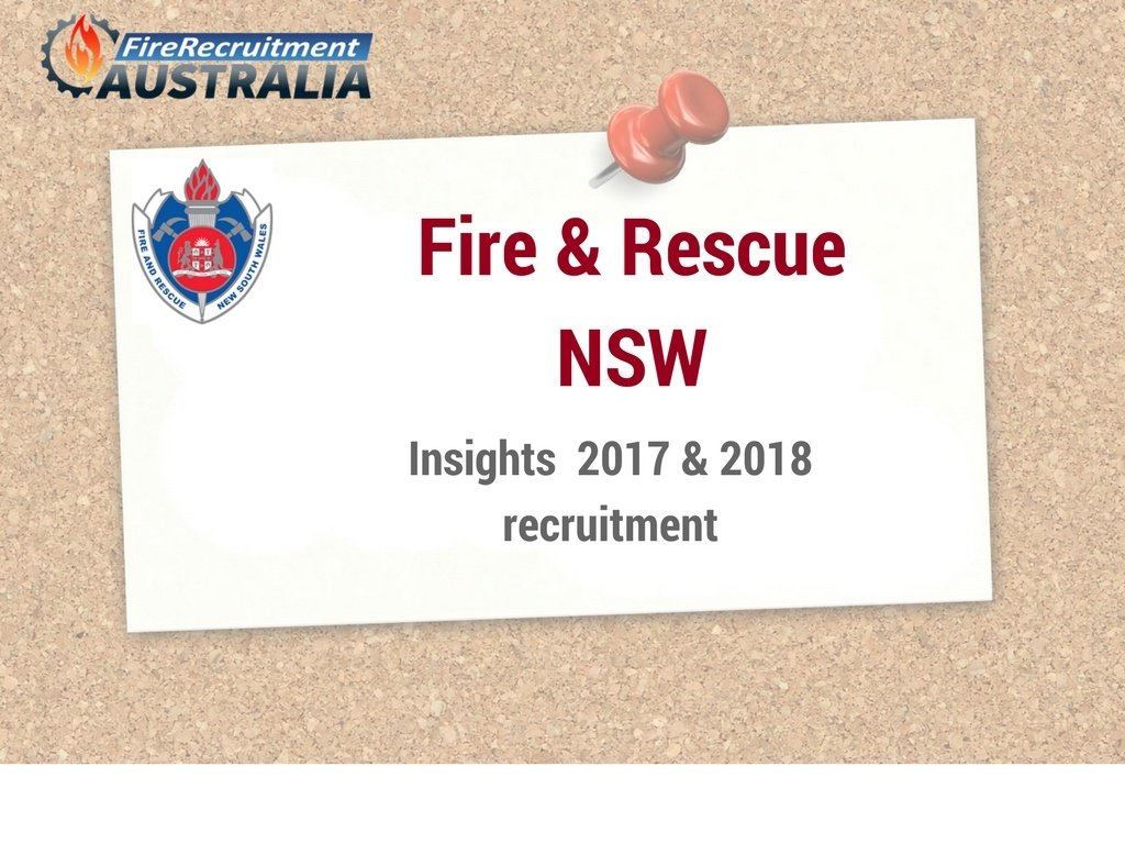 NSW Fire Recruitment 2017 & 2018