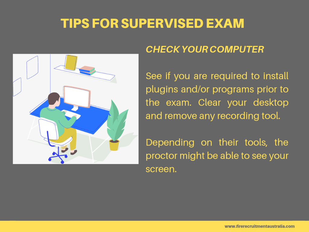 qfes 2019 supervised exam