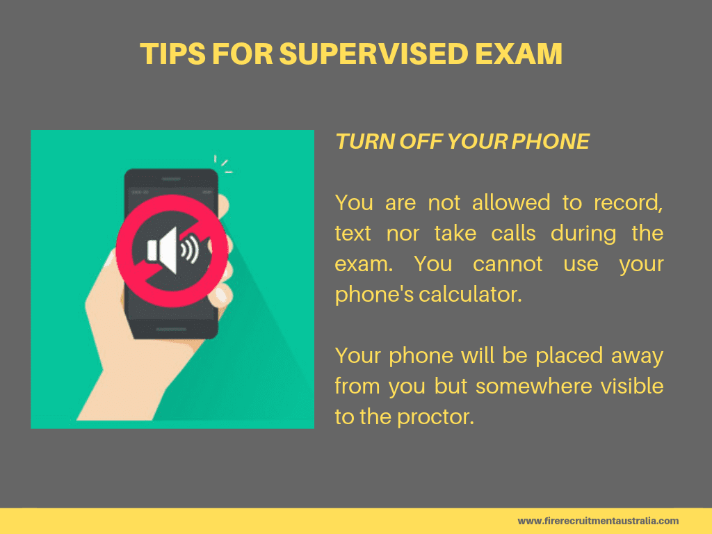 QFES supervised exam tips 1