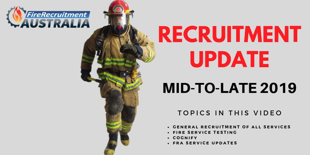 2019 firefighter recruitment update