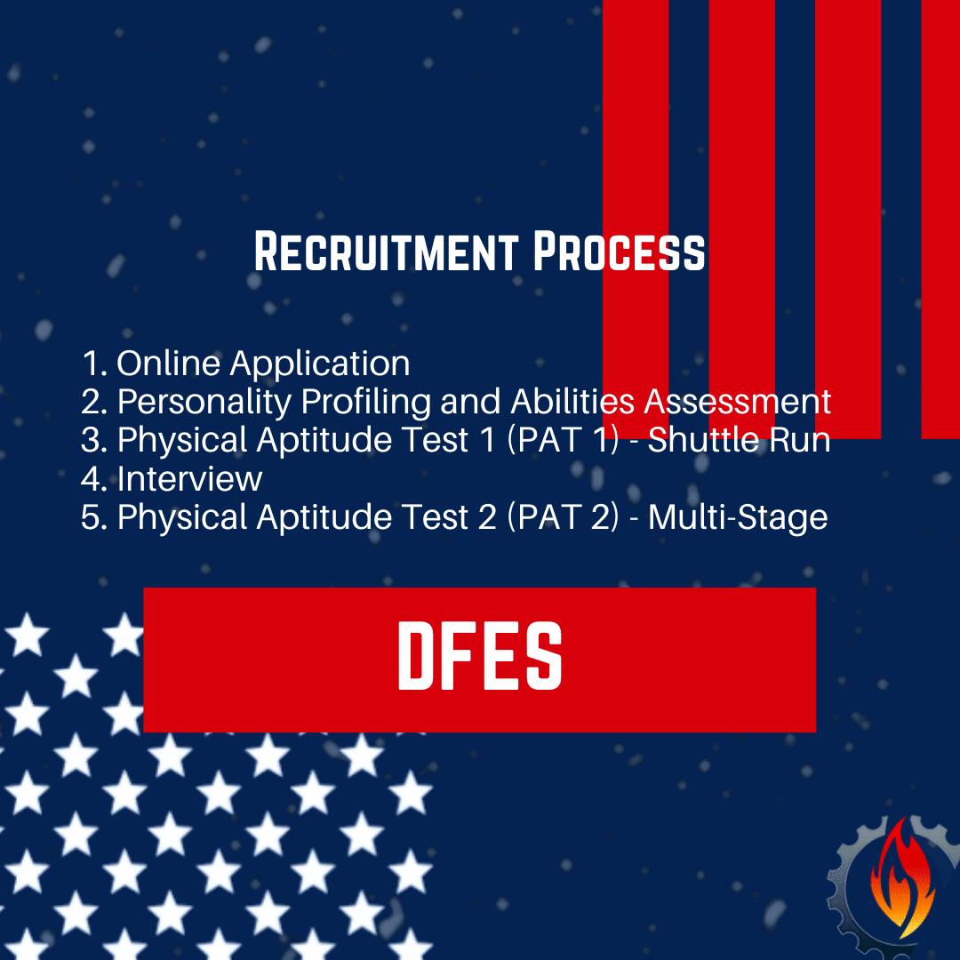 dfes recruitment process