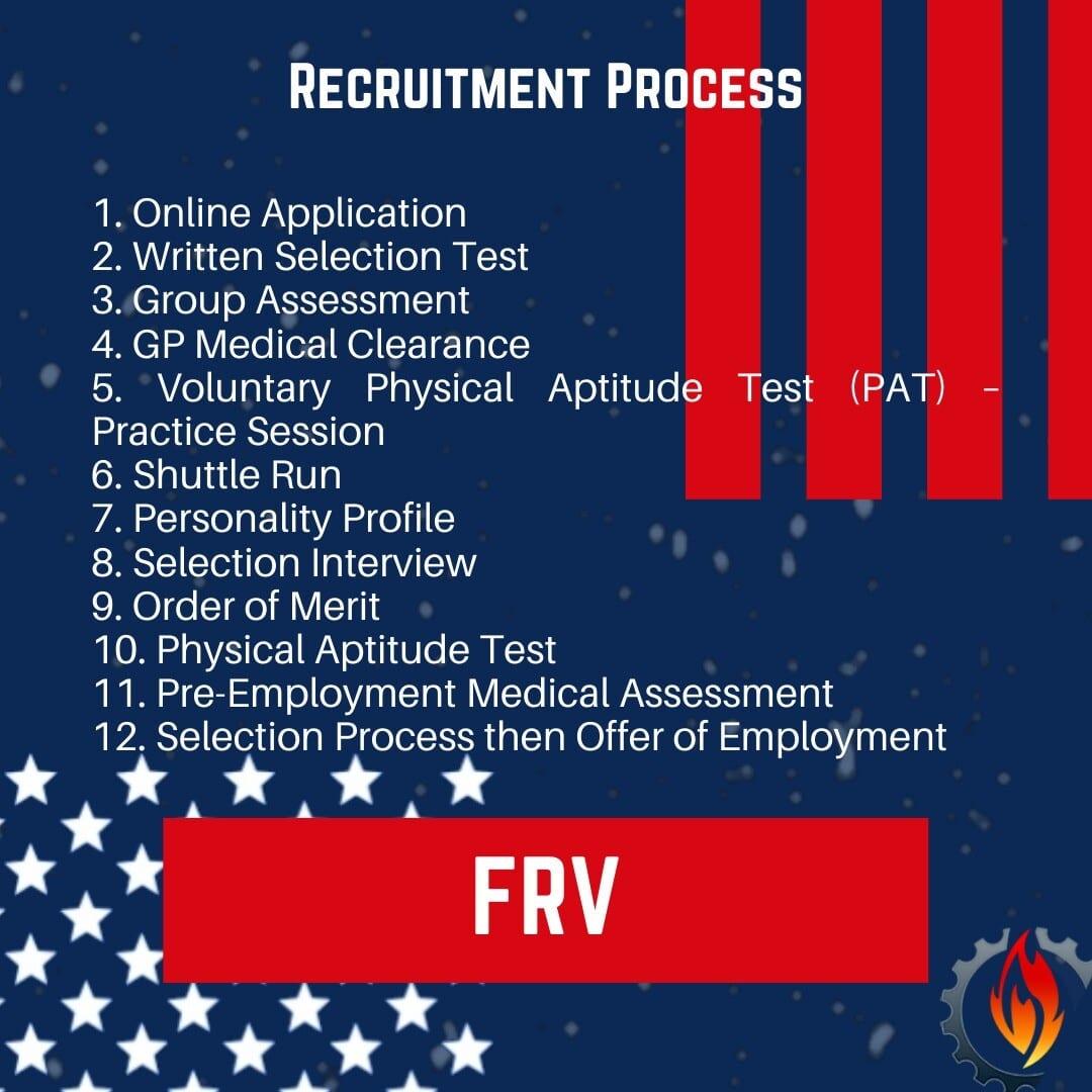 frv Firefighter Recruitment 2020 process