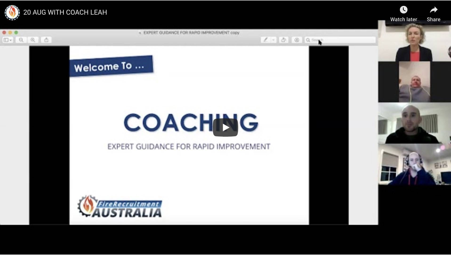 interview coaching melbourne